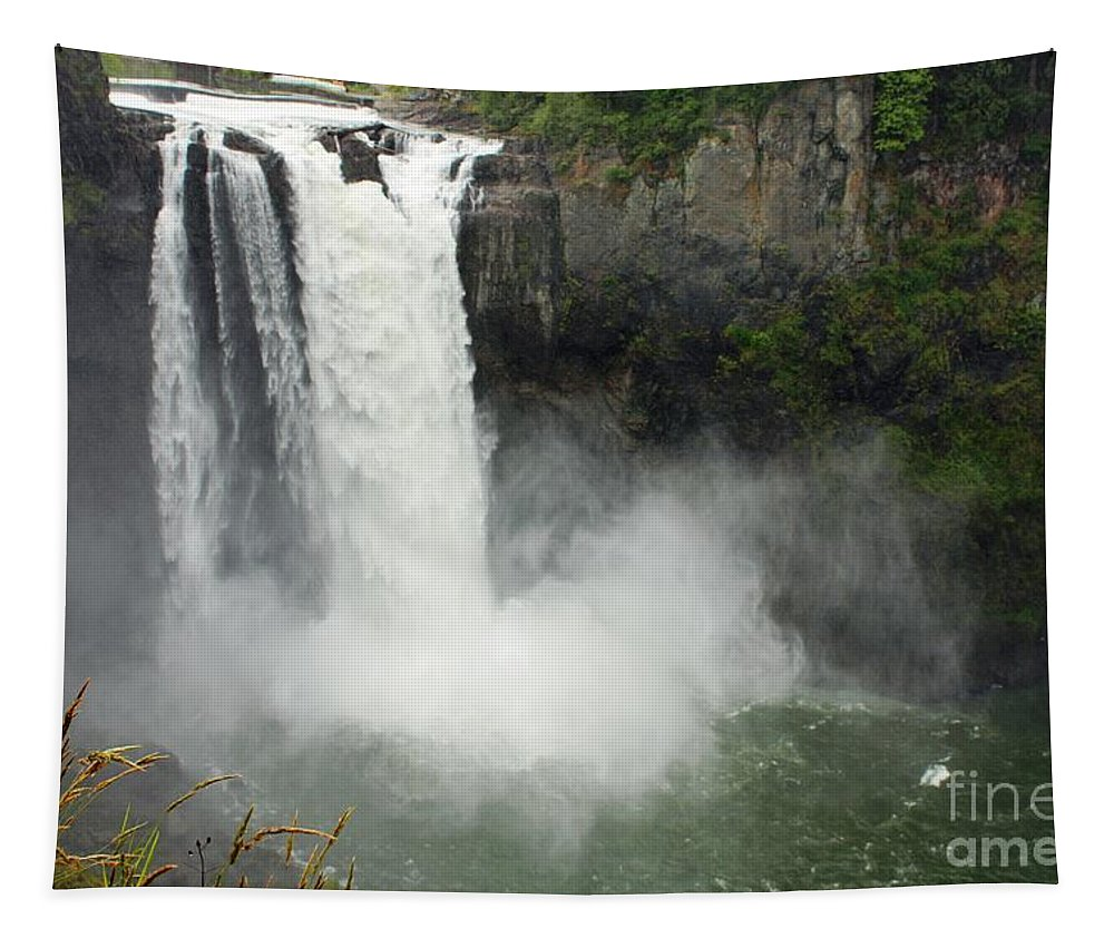 Snoqualmie Falls Tapestry featuring the photograph Snoqualmie Falls by Carol Groenen