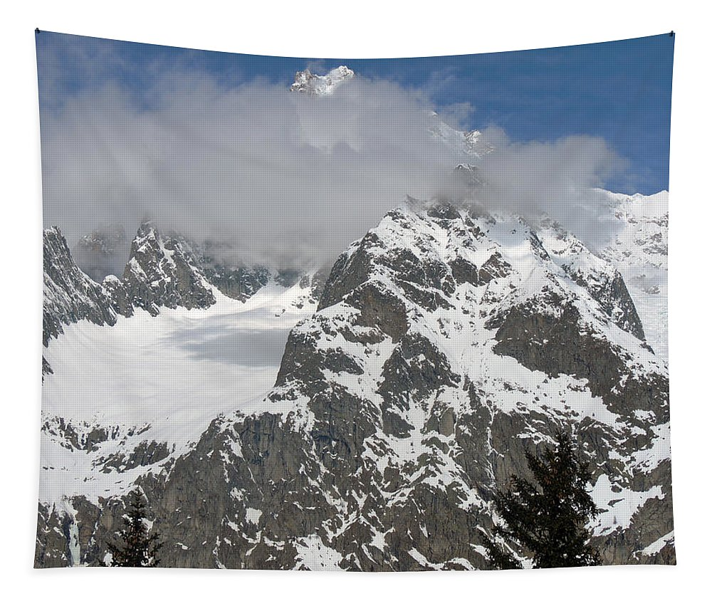 Chamonix Tapestry featuring the photograph Snow Bowl In Italian Alps by Frank Wilson