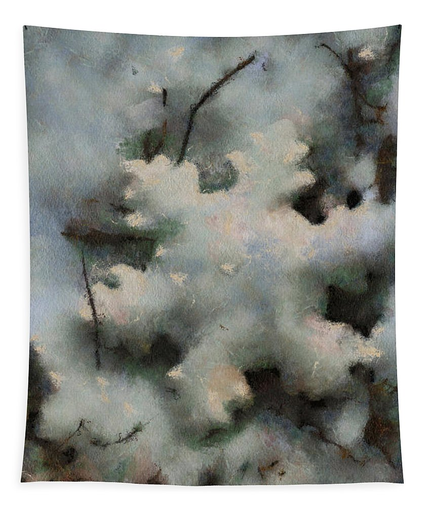 Season Tapestry featuring the photograph Snow Flake 03 Photo Art by Thomas Woolworth