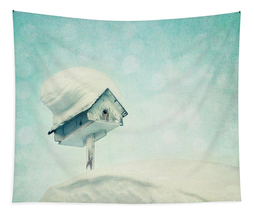 Snowbird Tapestry featuring the photograph Snowbird's Home by Priska Wettstein