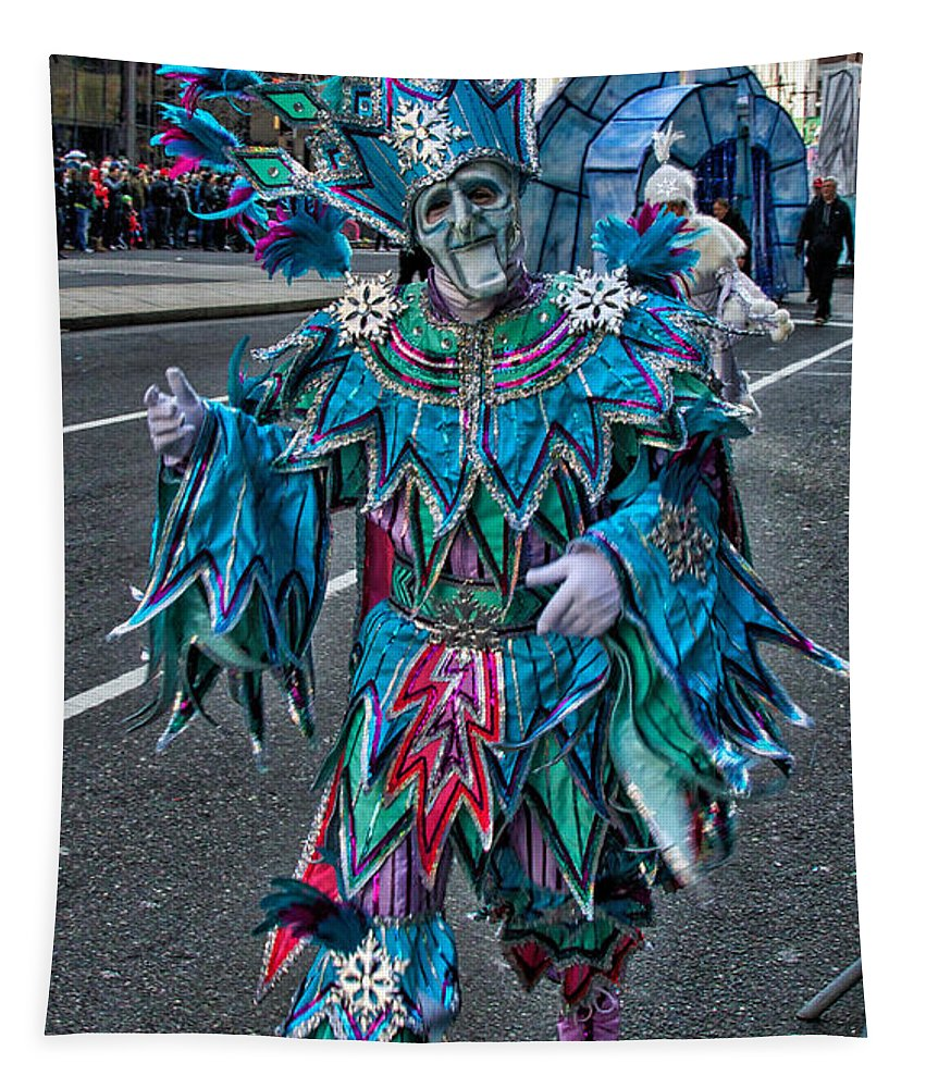 Mummer Tapestry featuring the photograph Snowflake Mummer by Alice Gipson