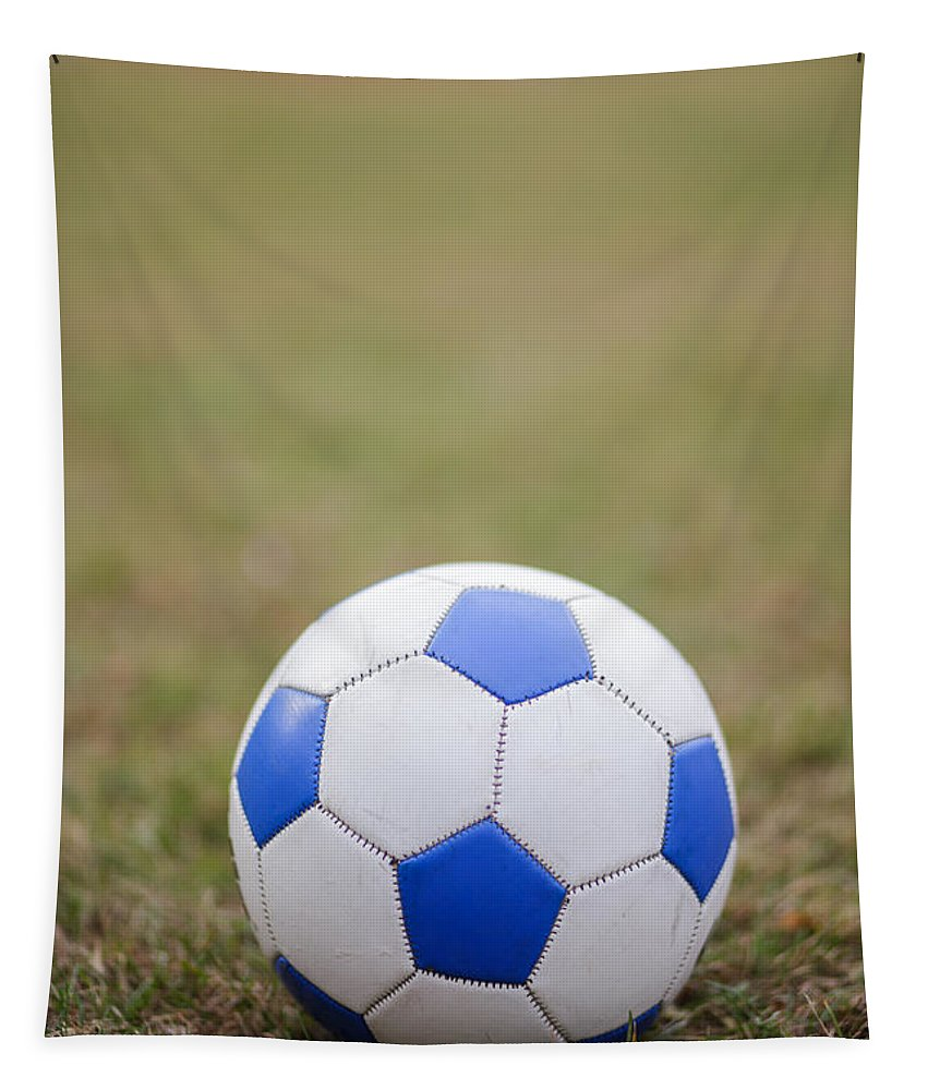Football Tapestry featuring the photograph Soccer Ball by Edward Fielding
