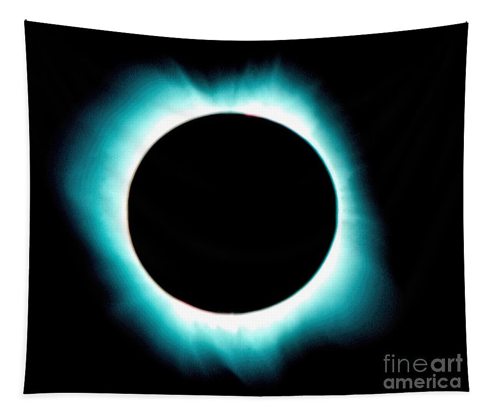 Solar Corona Tapestry featuring the photograph Solar Corona by Jon Burch Photography