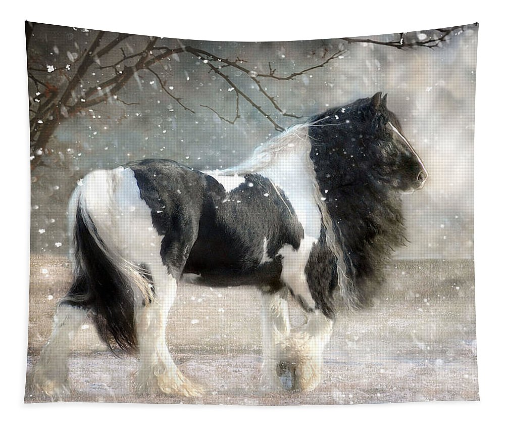 Horse Photographs Tapestry featuring the photograph Solitary by Fran J Scott