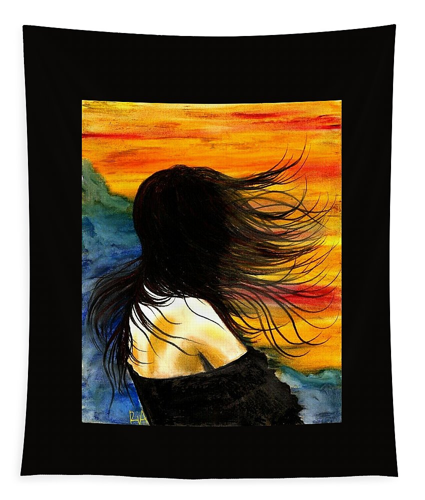 Beautiful Tapestry featuring the photograph Solo Mood by Artist RiA