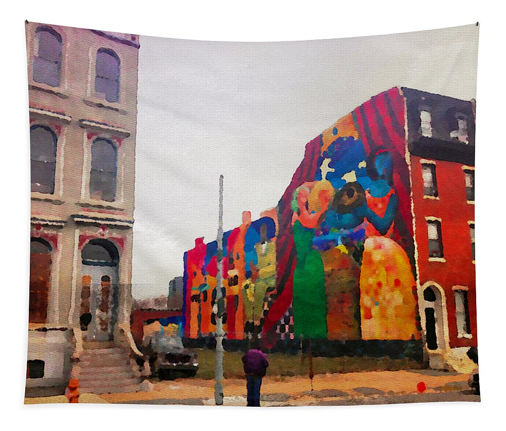 Mural Tapestry featuring the photograph Some Color In Philly by Alice Gipson