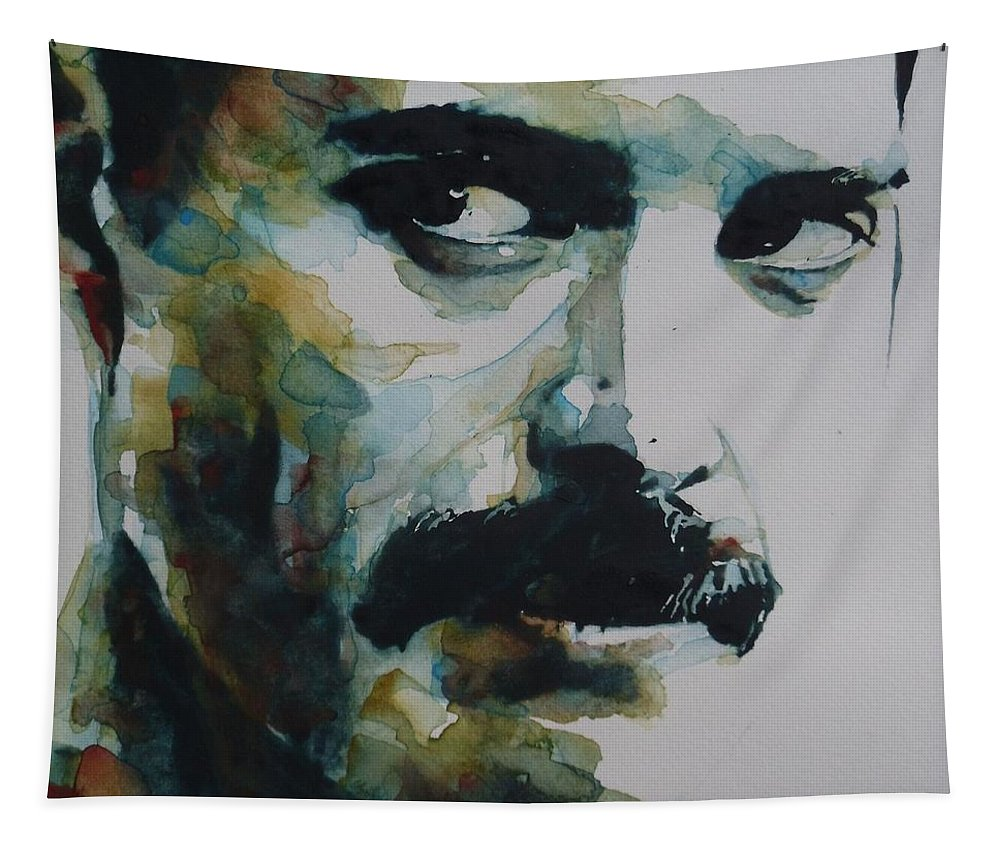 Queen Tapestry featuring the painting Freddie Mercury by Paul Lovering