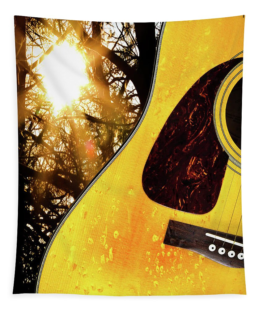 Guitar Tapestry featuring the photograph Songs From The Wood by Bob Orsillo