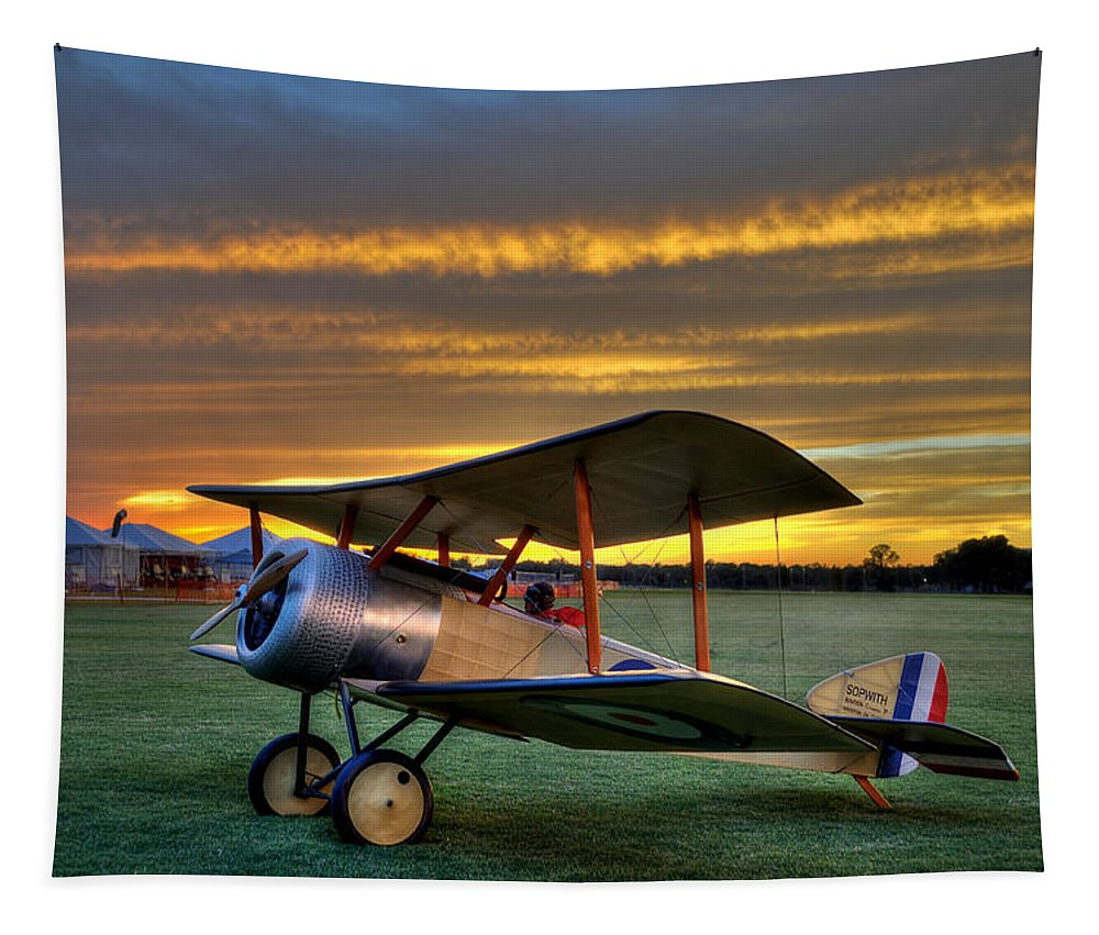 Sopwith Tapestry featuring the photograph Sopwith Sunset by David Hart
