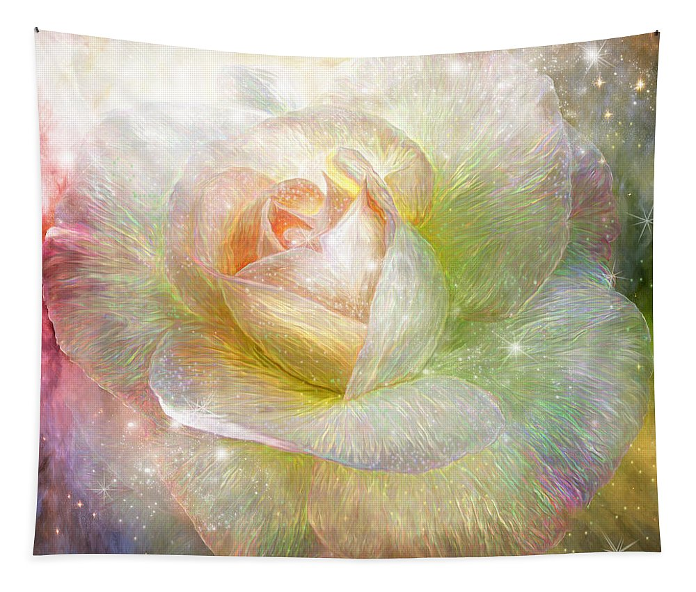 Rose Tapestry featuring the mixed media Soul Mate Rose by Carol Cavalaris