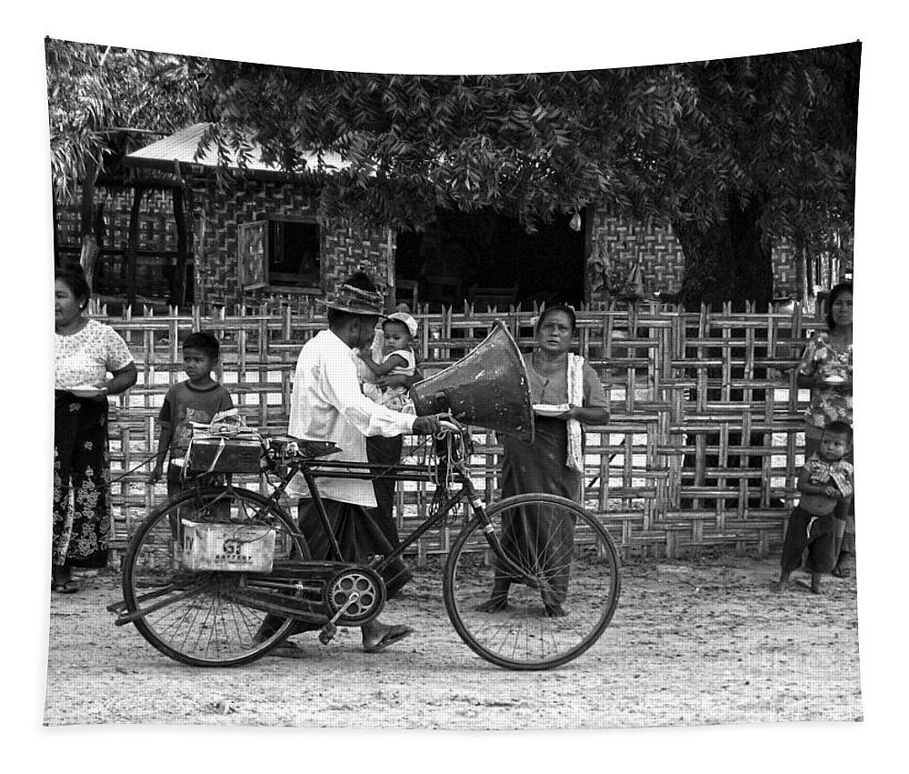 Bike Tapestry featuring the photograph Sound Bike In Burma by RicardMN Photography