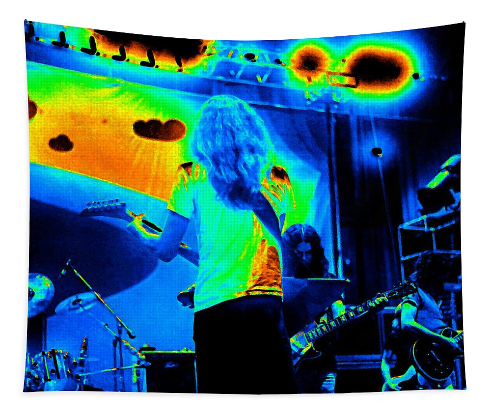 Lynyrd Skynyrd Tapestry featuring the photograph Soundcheck #11 Enhanced Cosmicolors 1 Crop 2 by Ben Upham