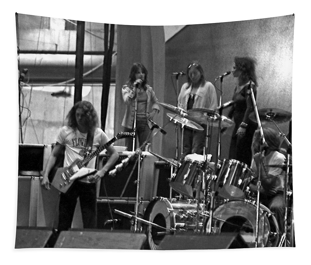 Lynyrd Skynyrd Tapestry featuring the photograph Soundcheck #9 Crop 2 by Ben Upham