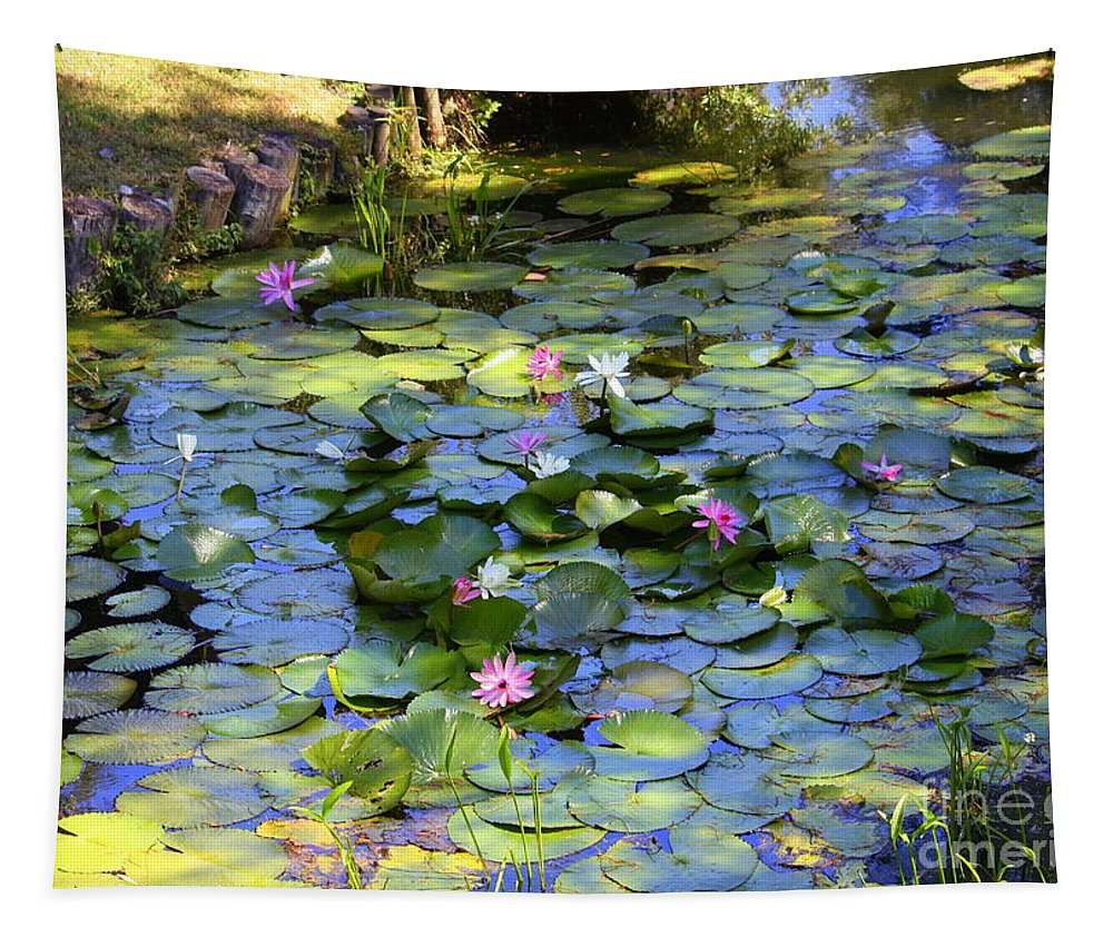 Lily Pond Tapestry featuring the photograph Southern Lily Pond by Carol Groenen