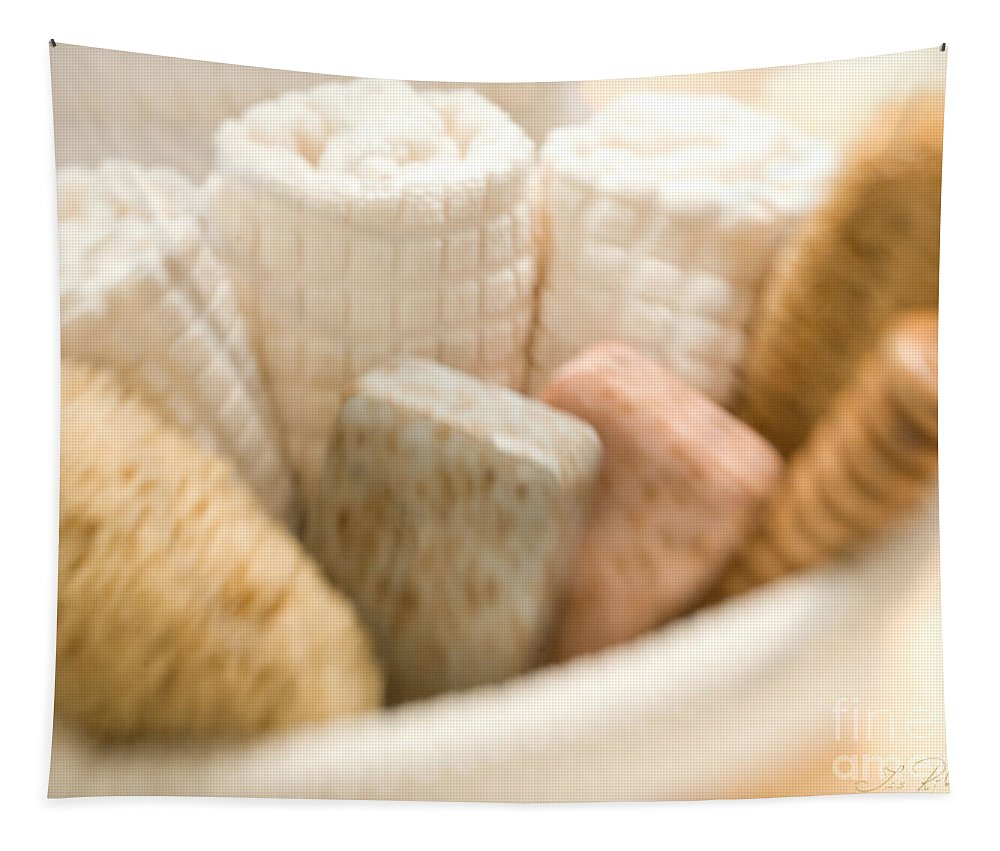 Holistic Tapestry featuring the photograph Spa Basket With Soaps by Iris Richardson