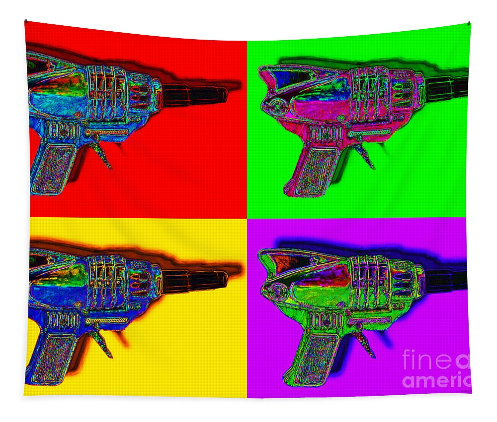 Spacegun Tapestry featuring the photograph Spacegun Four 20130115 by Wingsdomain Art and Photography