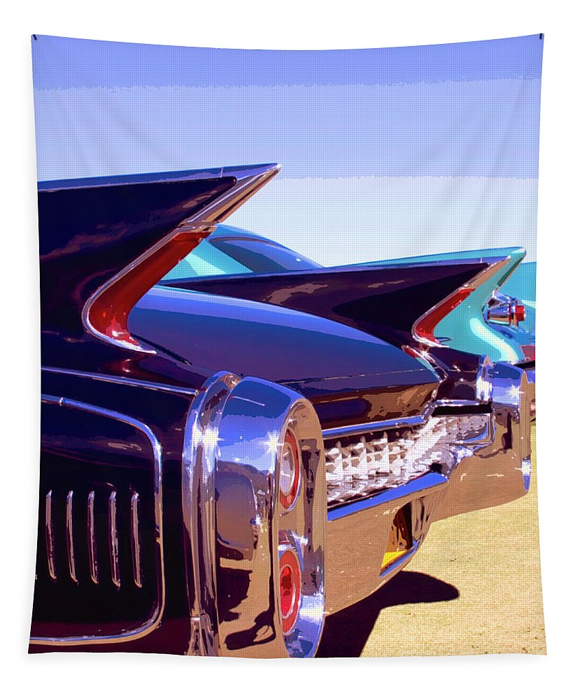 Retro Tapestry featuring the photograph Spaceships Palm Springs by William Dey