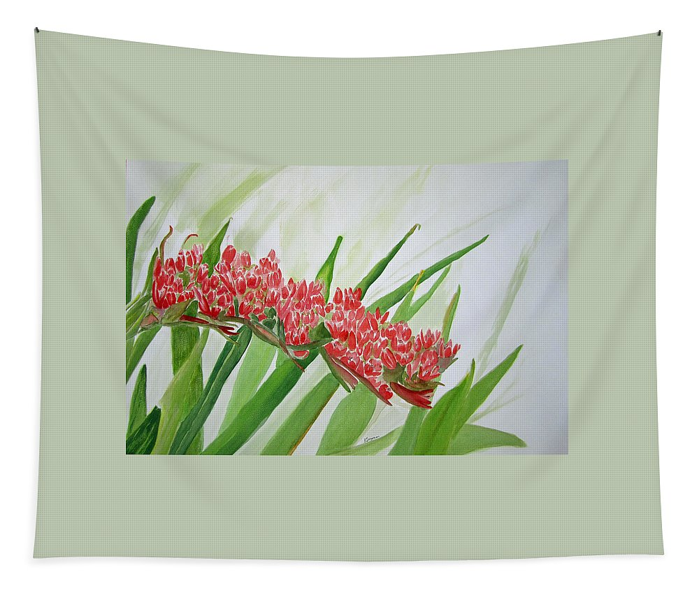Floral Tapestry featuring the painting Spear Lily by Elvira Ingram