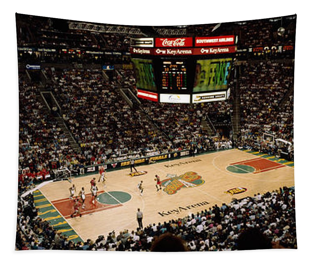 Spectators Watching A Basketball Match Tapestry For Sale By Panoramic Images