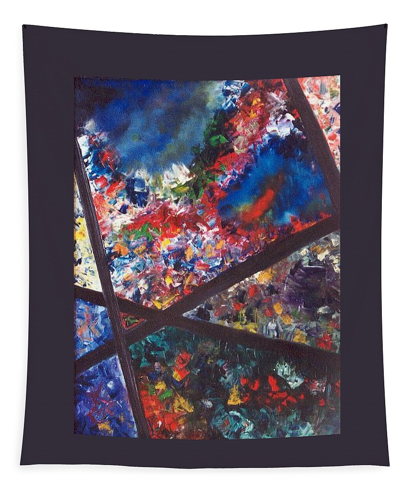 Abstract Tapestry featuring the painting Spectral Chaos by Micah Guenther
