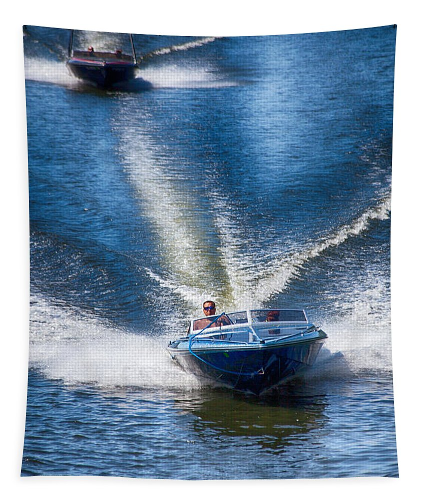 Speed On The Water Tapestry featuring the photograph Speed On The Water by Karol Livote