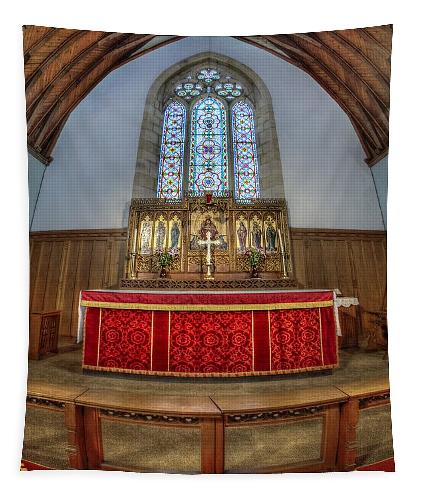 Church Tapestry featuring the photograph Spirit Lives On by Evelina Kremsdorf
