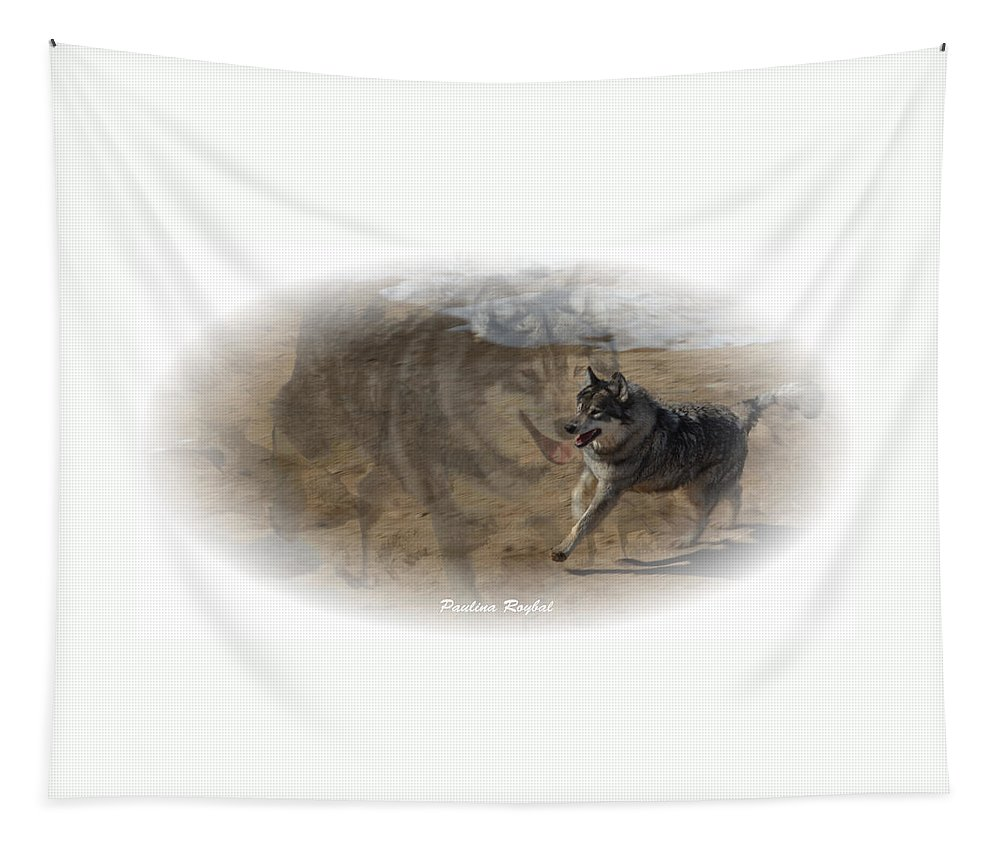 Wolf Tapestry featuring the photograph Spirit by Paulina Roybal