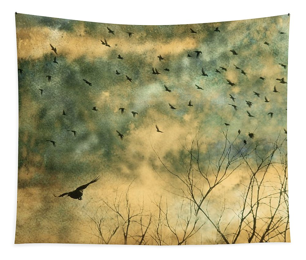 Crows Tapestry featuring the mixed media Splash by Gothicrow Images