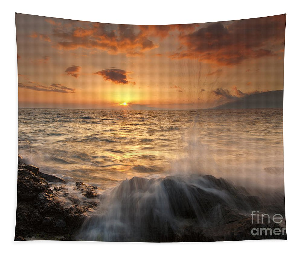 Paradise Tapestry featuring the photograph Splash Of Paradise by Mike Dawson