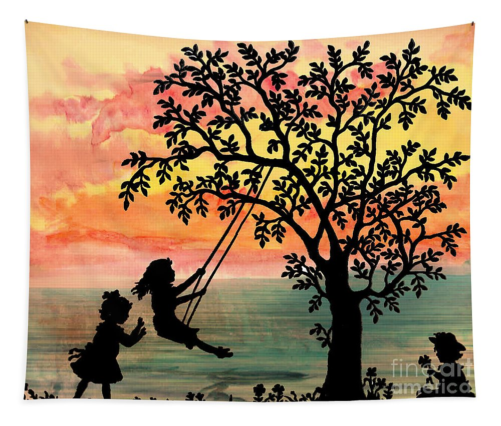 Spring Tapestry featuring the digital art Spring by Ben Yassa