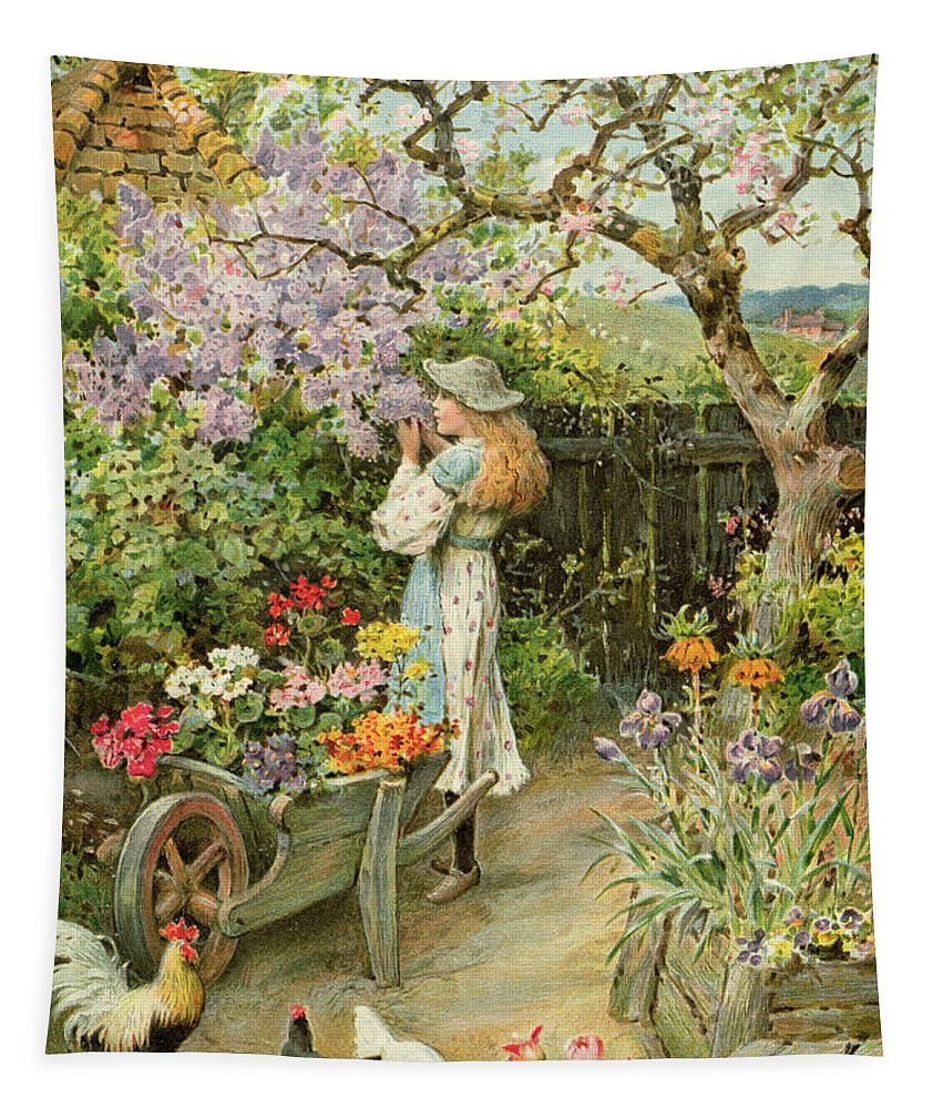 Blossom Tapestry featuring the painting Spring Blossoms by William Stephen Coleman