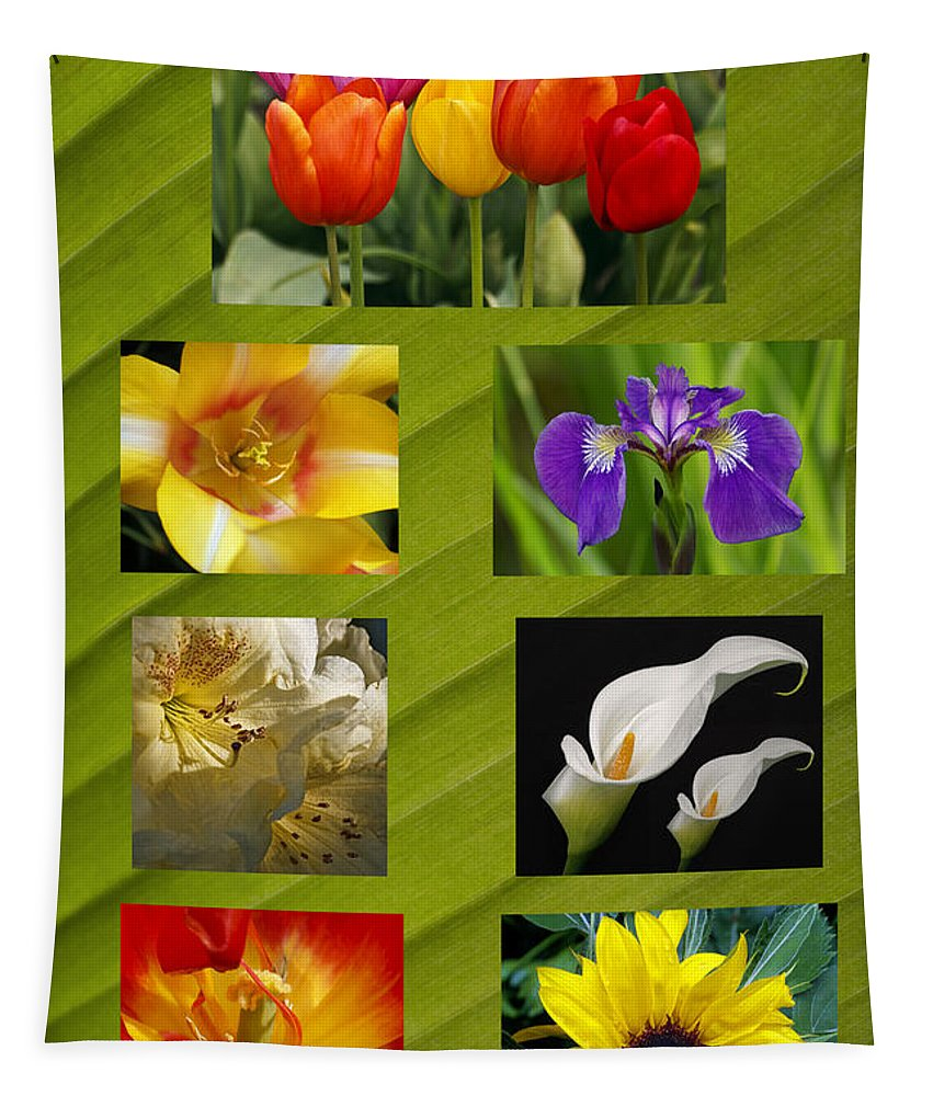 Spring Flowers Tapestry featuring the photograph Spring Flowers by Wes and Dotty Weber