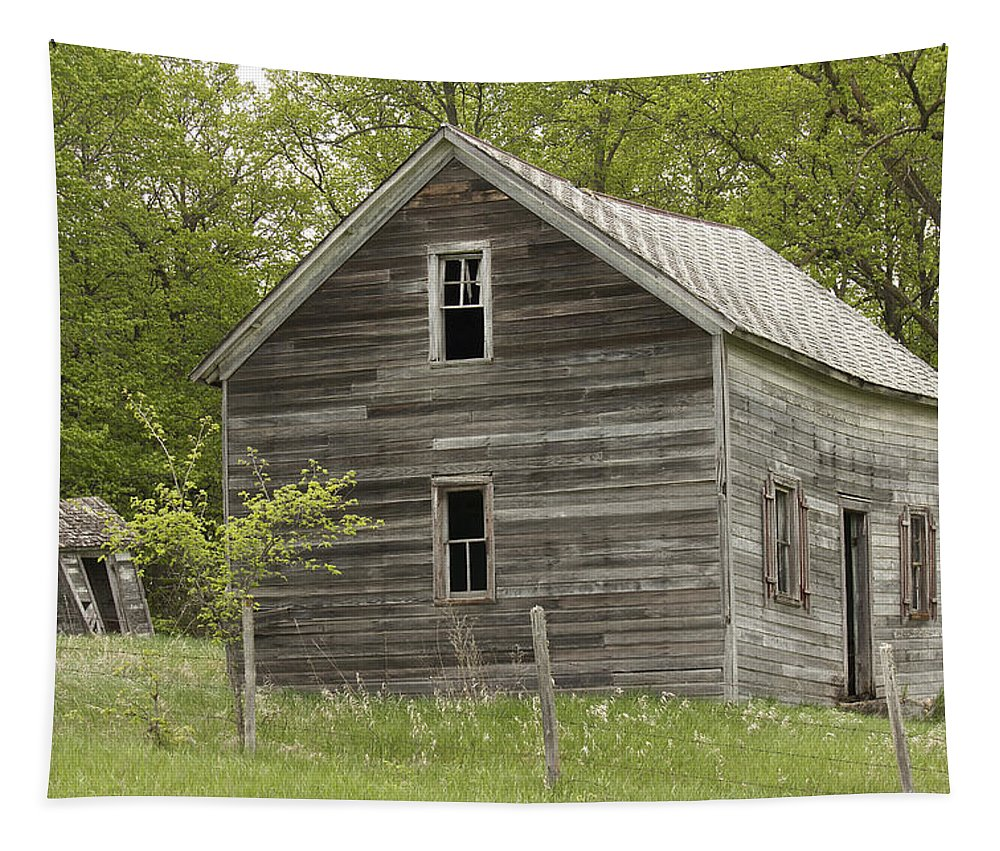 Farmhouse Tapestry featuring the photograph Spring Has Arrived At Captain Ed's by Penny Meyers