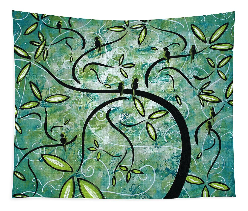 Wall Tapestry featuring the painting Spring Shine by MADART by Megan Duncanson