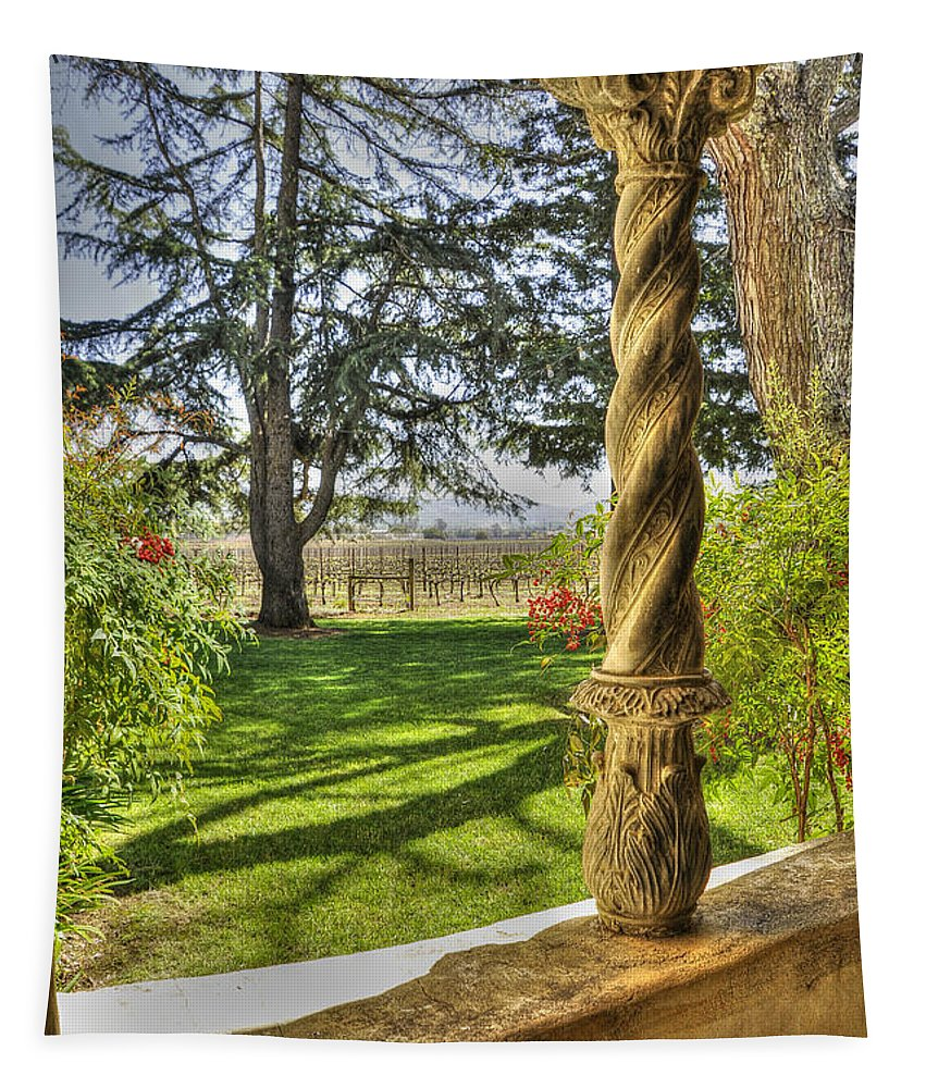 Wendyelliottphotography Tapestry featuring the photograph Spring Vineyards by Wendy Elliott