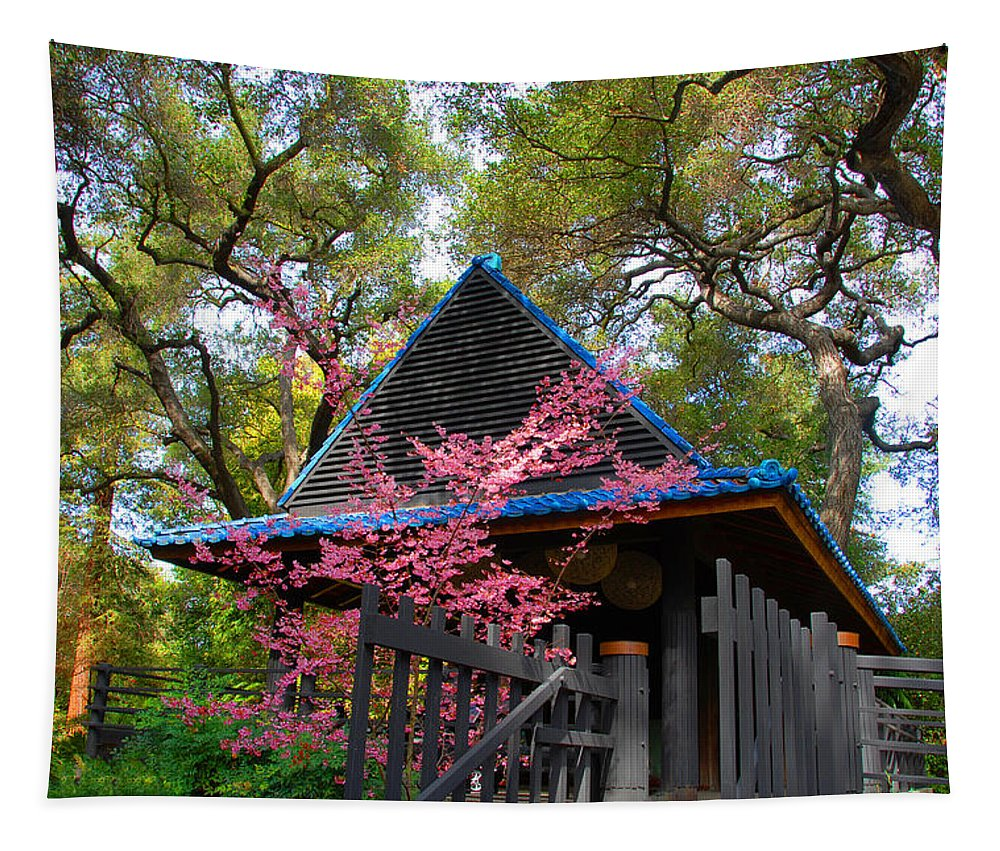 Pagoda Tapestry featuring the photograph Springtime Pagoda by Lynn Bauer