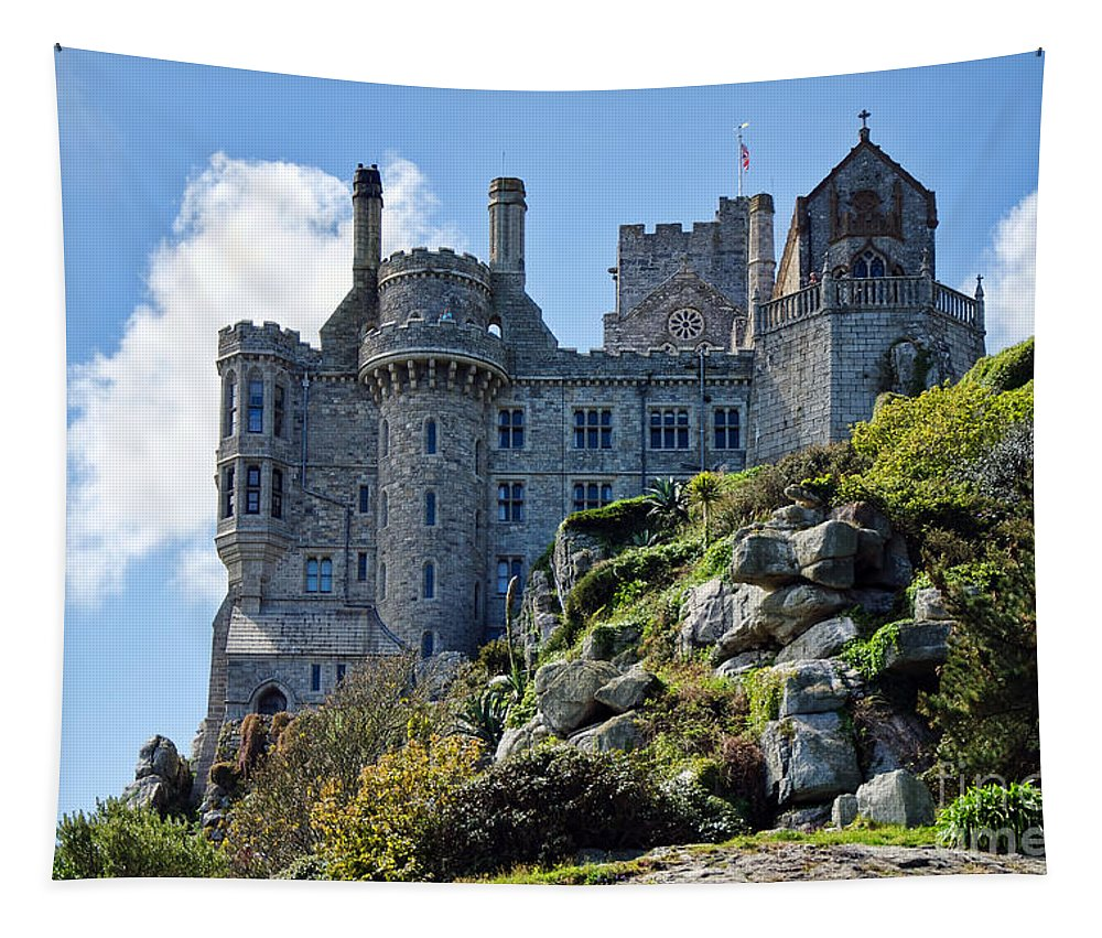 St Michaels Mount Tapestry featuring the photograph St Michael's Mount 1 by Susie Peek