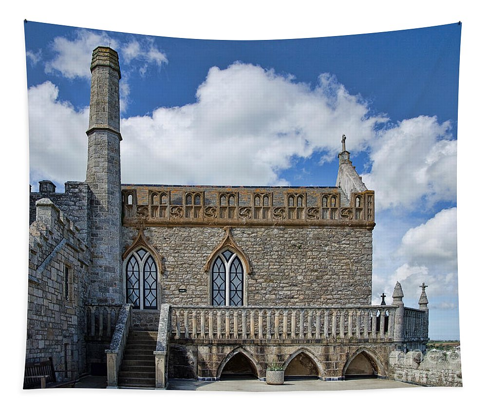 St Michaels Mount Tapestry featuring the photograph St Michael's Mount 3 by Susie Peek