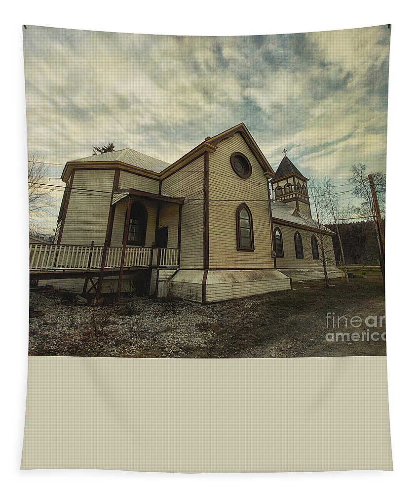 St. Pauls Anglican Church Tapestry featuring the photograph St. Pauls Anglican Church by Priska Wettstein