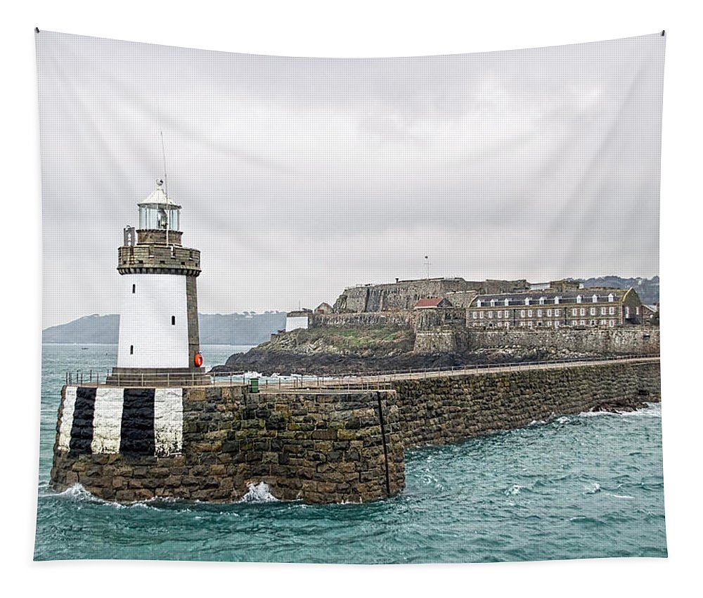 St-peter-port Tapestry featuring the photograph St Peter Port - Guernsey by Susie Peek