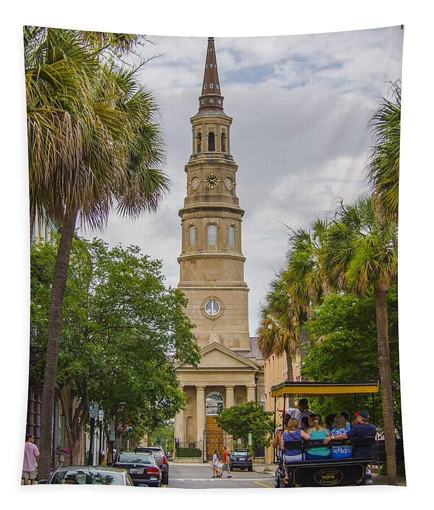 St. Philip's Episcopal Church Tapestry featuring the photograph St. Philip's Episcopal Church Charleston Sc by Dale Powell