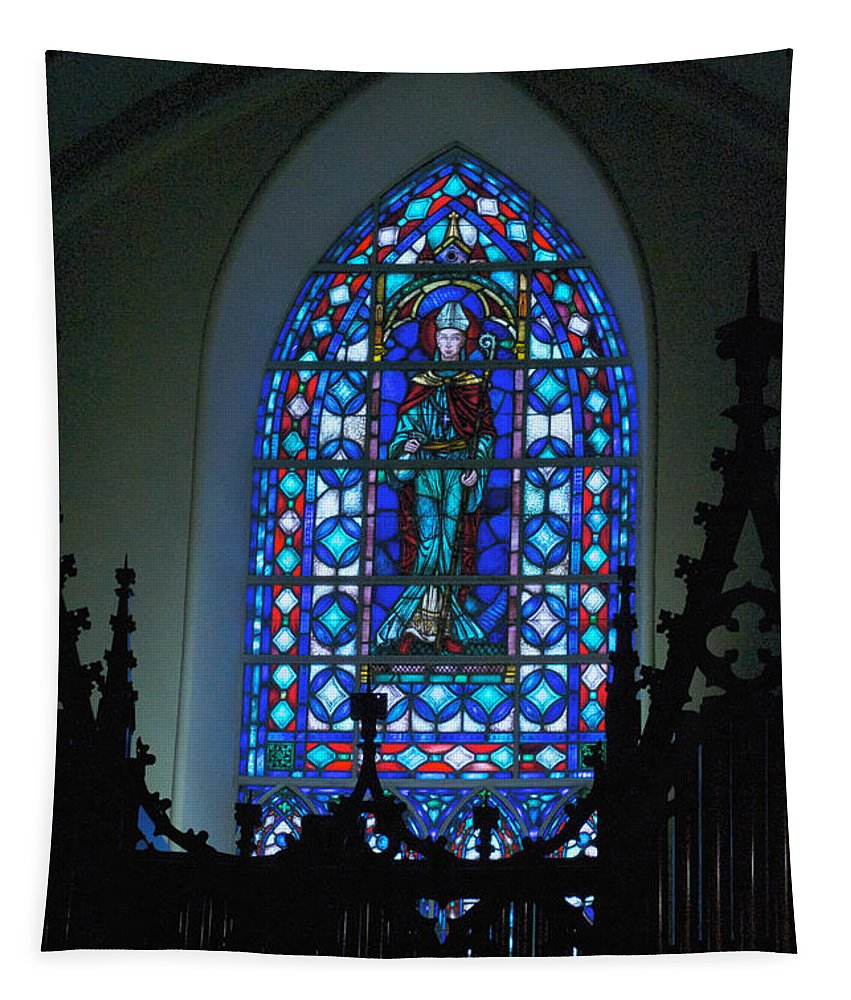 Villanova College Tapestry featuring the photograph St Thomas Stained Glass by William Norton