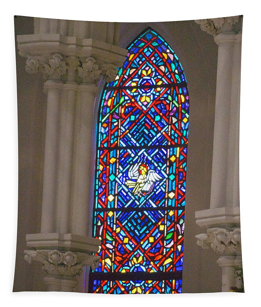 Villanova College Tapestry featuring the photograph Stained Glass by William Norton