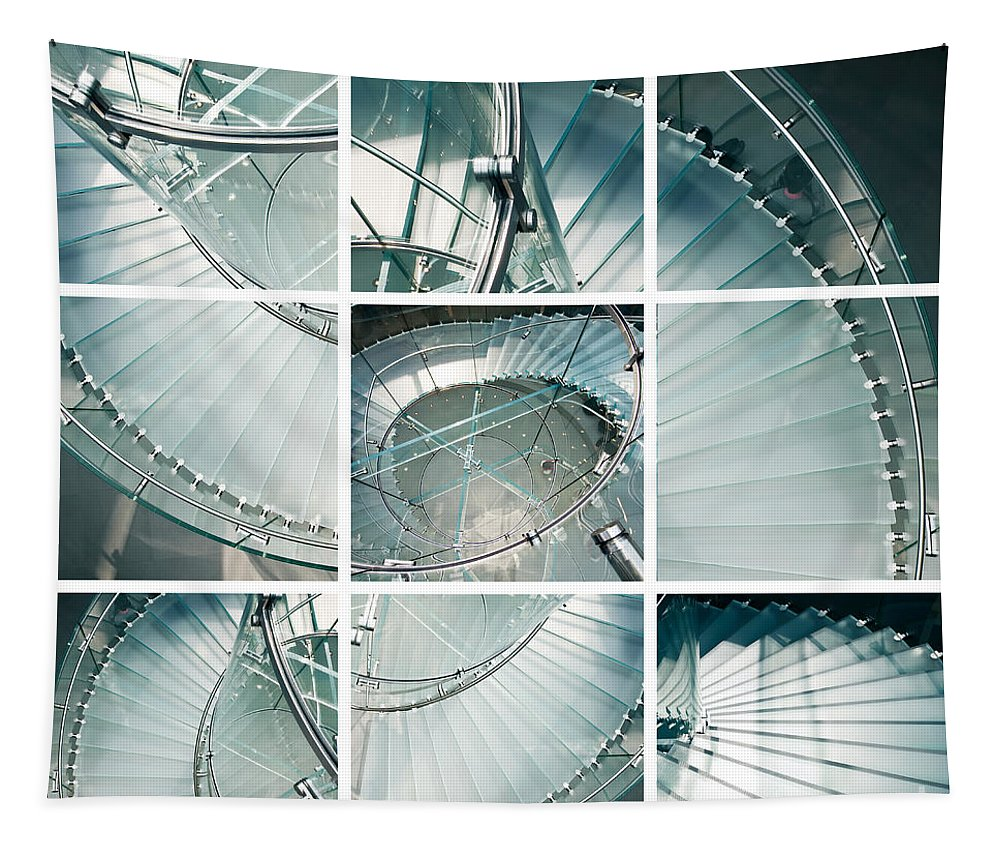 Stairs Tapestry featuring the photograph Staircase Jigsaw by Delphimages Photo Creations