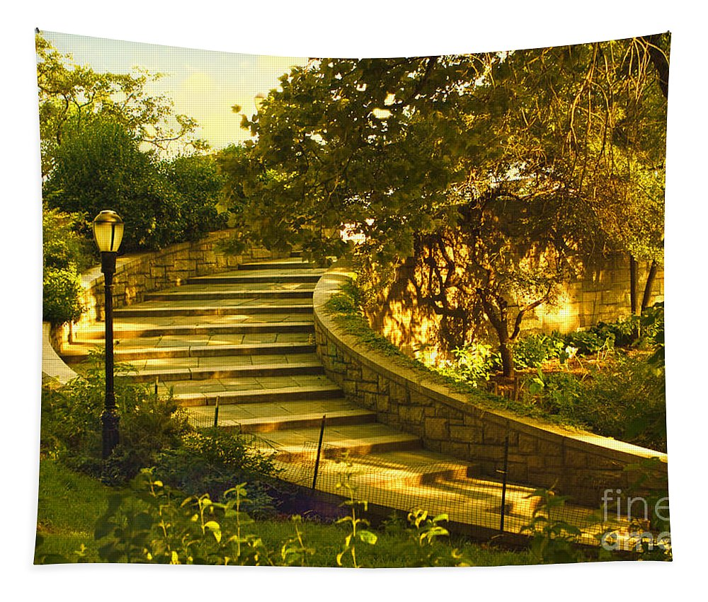 Park Tapestry featuring the photograph Stairway To Nirvana by Madeline Ellis