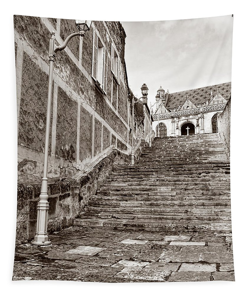 Old Tapestry featuring the photograph Stairway To Salvation by Olivier Le Queinec