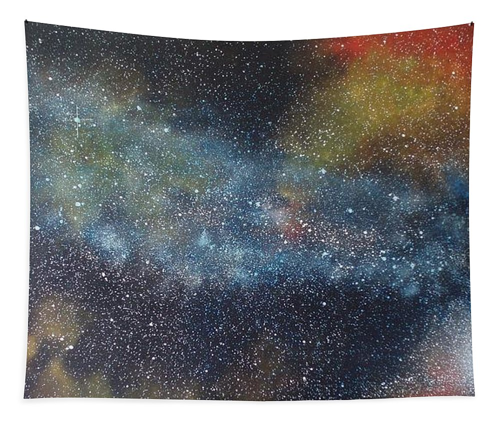 Oil Painting On Canvas Tapestry featuring the painting Stargasm by Sean Connolly