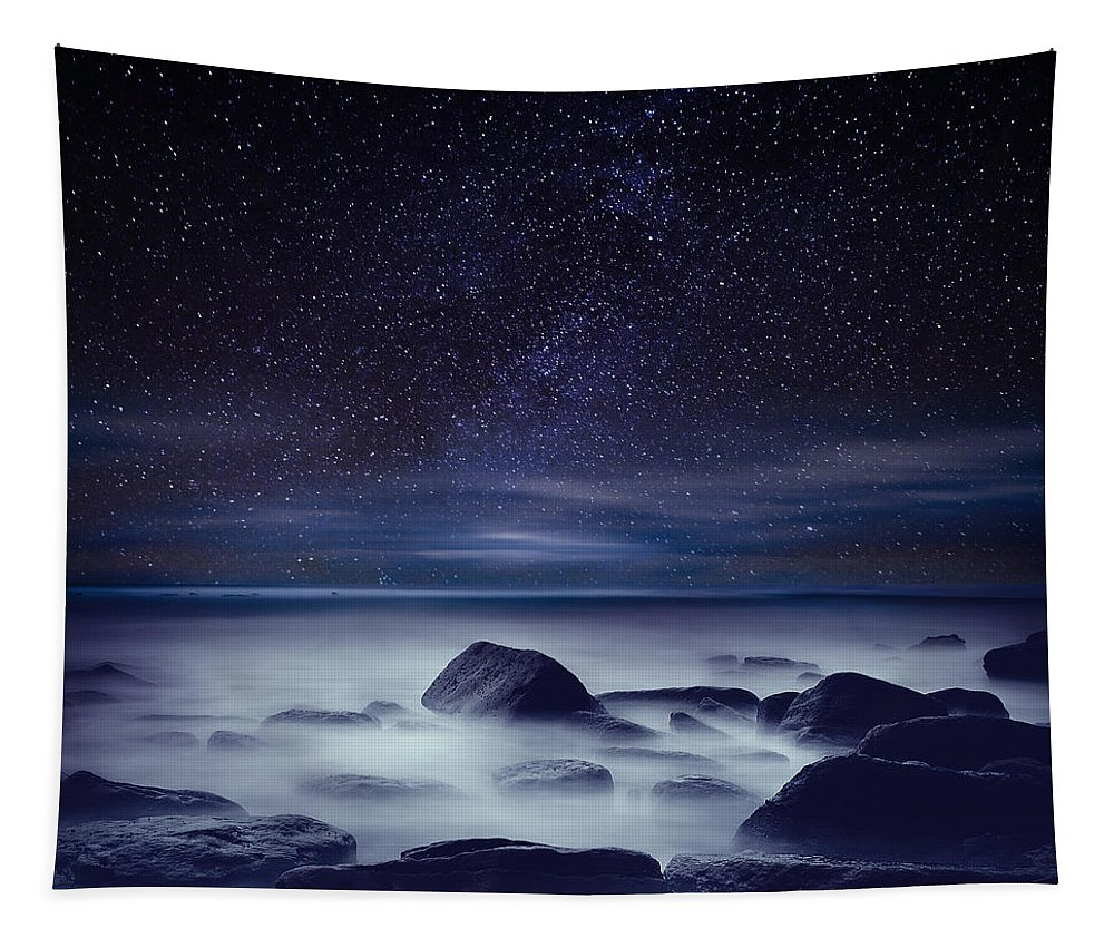 Night Tapestry featuring the photograph Starry night by Jorge Maia