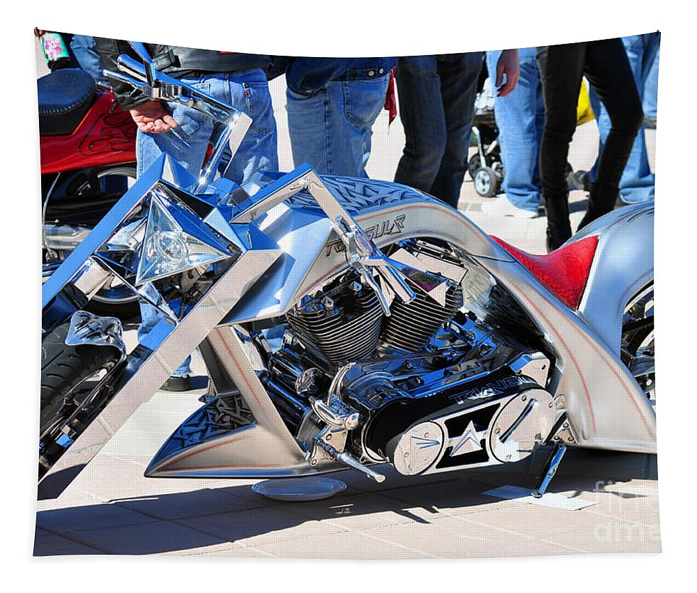 Motor Cycle Tapestry featuring the photograph Statement Stands Out  by Davids Digits