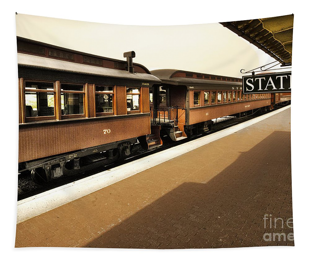 Strasburg Station Tapestry featuring the photograph Station by Paul W Faust - Impressions of Light